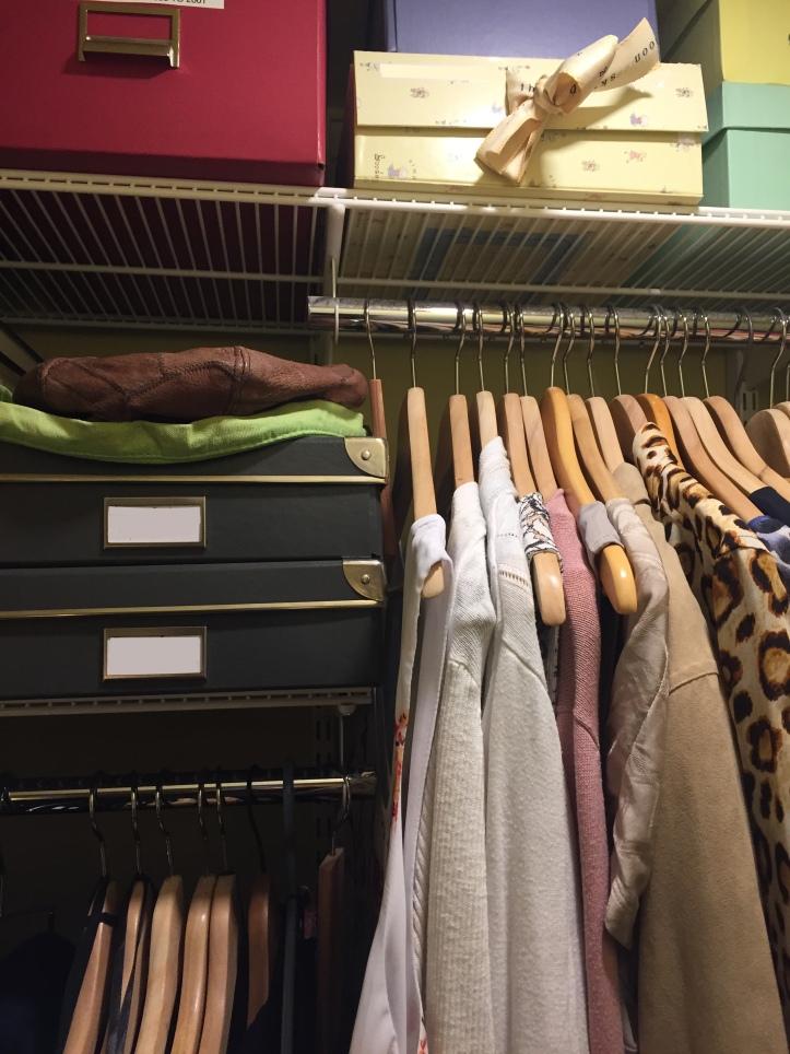 Closet after organizing